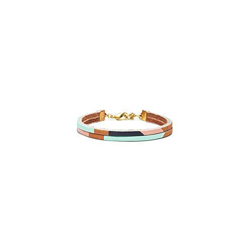 Pecos Hand-Painted Brown Leather Adjustable Bracelet | from Son of a Sailor