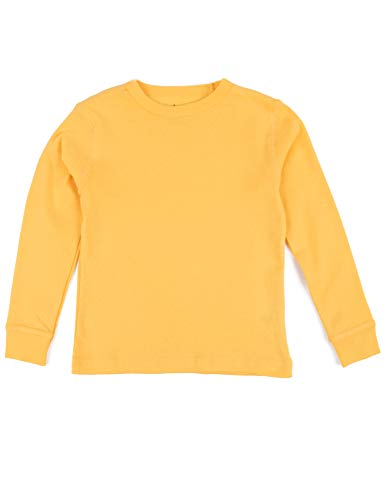 Leveret Long Sleeve Boys Girls Kids & Toddler T-Shirt 100% Cotton (2 Years, Yellow) -