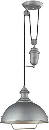 Elk 65081-1 Farmhouse 1-Light Pendant, Aged Pewter Aged Pewter One Light