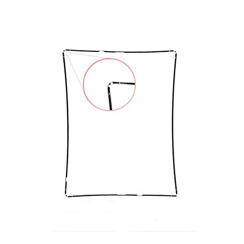 Lot of 2 Black iPad Mid Frame Spacer Bezel with Adhesive for iPad 2 from Group Vertical