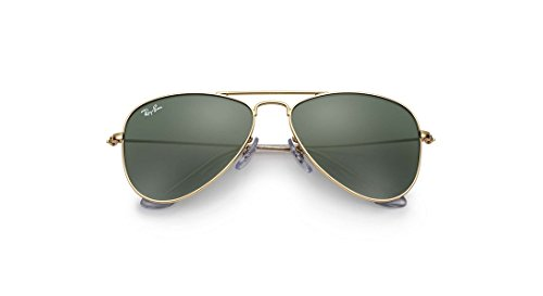 Lunettes de Soleil Ray-Ban Junior AVIATOR JUNIOR RJ 9506S GOLD/GREY GREEN junior