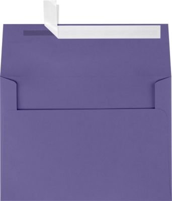 A7 Invitation Envelopes w/Peel & Press (5 1/4 x 7 1/4) - Wisteria Purple (50 Qty) | Perfect for Invitations, Announcements, Sending Cards, 5x7 Photos | Printable | 80lb Paper | LUX-4880-106-50