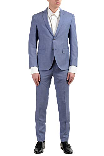 """Hugo Boss """"Reyno3/Wave1 Men's 100% Wool Blue Two Button for sale  Delivered anywhere in USA"""