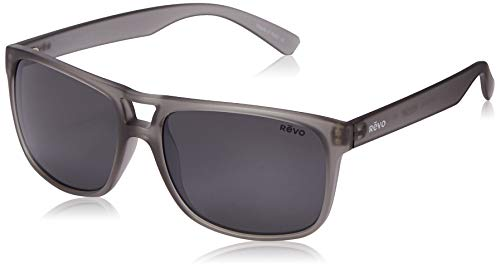 Revo Mens Holsby Sunglasses Matte Grey Crystal Frame Graphite Lens
