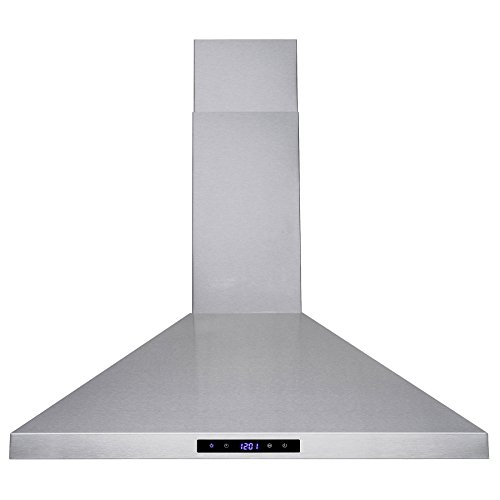 Golden Vantage 30'' Wall Mount Stainless Steel Touch Control Kitchen Range Hood Cooking Fan w/ Mesh Filter by Golden Vantage (Image #3)