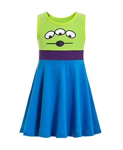 Alien Toy Story Costume for Toddler Alien Costume for Girls Princess Dress Party Cosplay Gift (Green, 3-4T)
