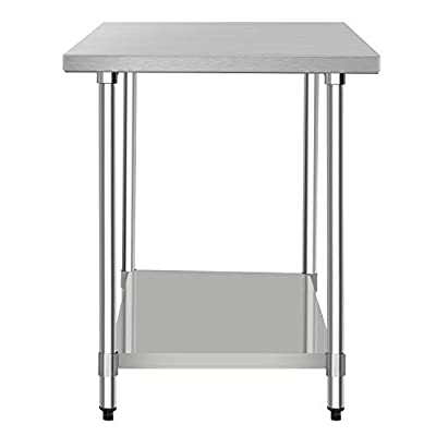 "48"" x 30"" NSF Stainless Steel Table, Heavy Duty Commercial Kitchen Food Prep Table & Work Table, by WATERJOY"