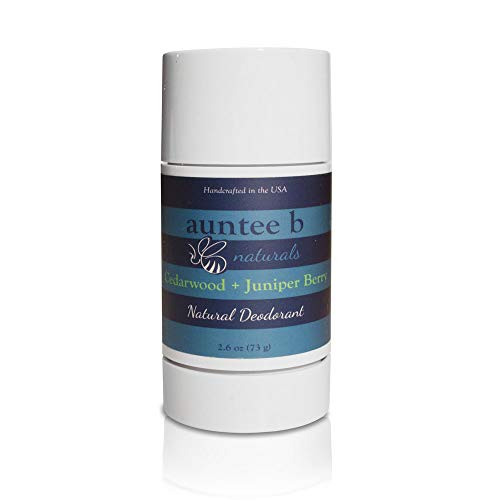 Natural Aluminum-Free Deodorant (Cedarwood/Juniper Berry) by Auntee B Naturals |  No Baking Soda | For Him and Her | No Phthalate or Parabens