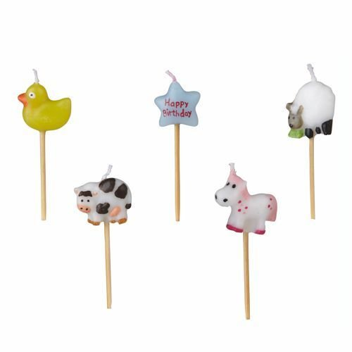50 cumpleaños velas 6,5 cm Animal