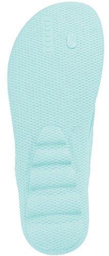Boombuz Vrouwen Lolla Half Gekleed 100% Natuur - Biologisch Afbreekbare Biologische Slippers - Strand Sandalen Mint Geel