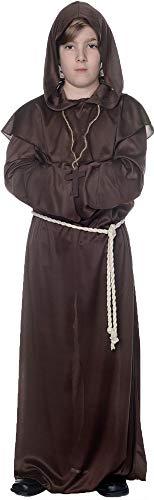 Underwraps Boy's Monk Robe Theme Party Fancy Dress