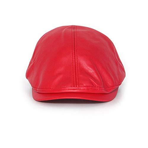 Korean Retro Leather Hat for Women Men Newspaperboy Hats Fashion Vintage Beret Flat Newsboy Caps Street Style