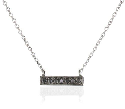 "Dana Rebecca Designs ""Sylvie Rose"" 14k Black Diamond Necklace"