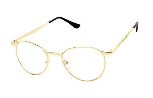 Caixia Unisex JTS3089 Super-thin Metal Frame Classic Round 50mm Eyeglasses (C1-gold - Cheap Lens Eyeglass Replacement