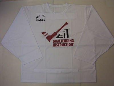 New Eagle ice hockey goalie cut jersey white adult XXL Sr. mens senior men goal