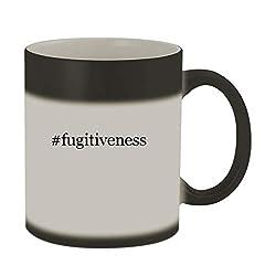 #fugitiveness - 11oz Color Changing Hashtag Sturdy Ceramic Coffee Cup Mug, Matte Black