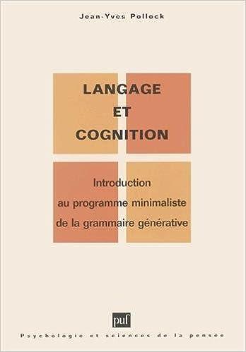 En ligne téléchargement Langage et Cognition epub, pdf