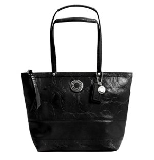 Black Patent Lunch Bag - 2