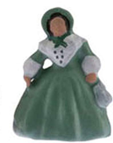 Multi Minis Dollhouse Miniature Southern Belle Doll Figurine in Green ()