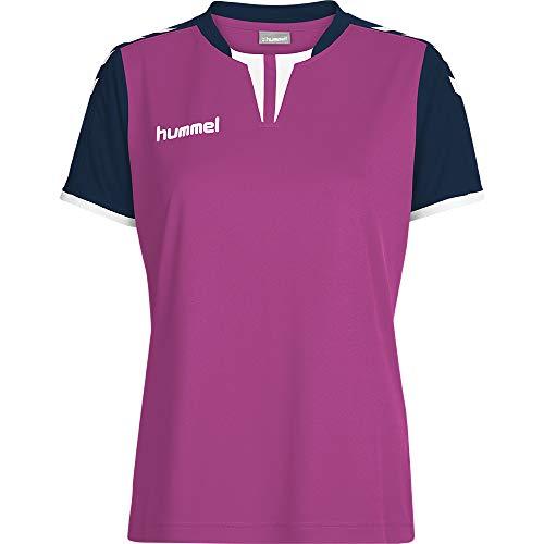 Camiseta Feminina Clássica Com Detalhes Na Gola Rosa Gg