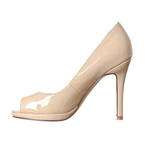 Platform Slight Heel Pumps Nude Women's Julia Riverberry Patent Toe High Open qOgCEtnw