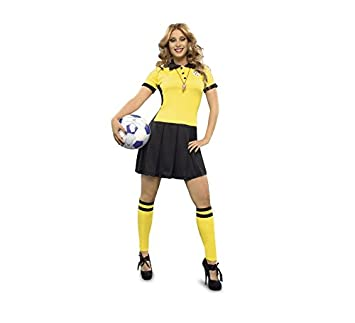Disfraz de Árbitro de fútbol para mujer talla M-L: Amazon.es ...