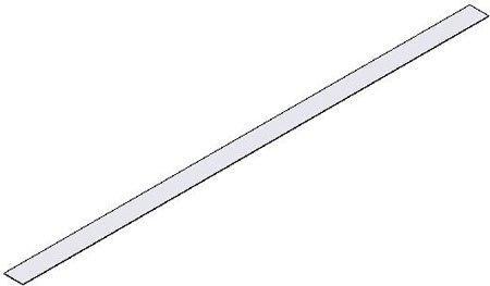 1/32 x 24 3/8 x 10' (T x W x L-ft.), Pre-Cut Sheet-White One Side, High Energy Flexible Magnetic Material, Magnet (1 Each)