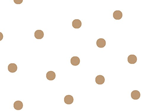 Pack Of 1, 40''X100' Large Gold Dots Classic Print Cello Rolls 1.0 Mil Made In USA by Generic