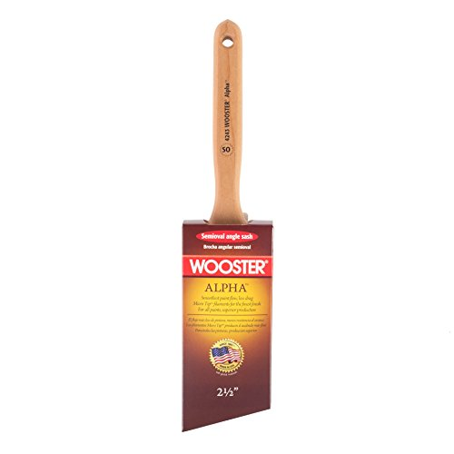 Wooster Brush 4243-2 1/2 Alpha Semi-Oval Angle Sash Paintbrush, - Sash Oval