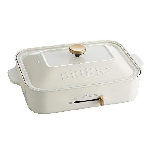 bruno コンパクトホットプレート [ ホワイト / 3種深鍋セット ]   B07HK3YDQD