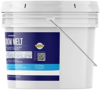Earthborn Elements Snow Melt (1 Gallon) Fast-Acting & Powerful, Pet & Eco-Friendly Pellets, Safe on Concrete, Asphalt & Wood, Non-Corrosive & Made in USA