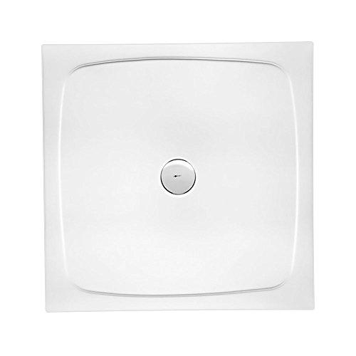 Duschwanne / Duschtasse SIMPLEX, quadratisch 90 x 90 cm | Extra-Flache Aufbau-Höhe: 3 cm | Kompatibel mit Aquabad Trapflex Ablauf