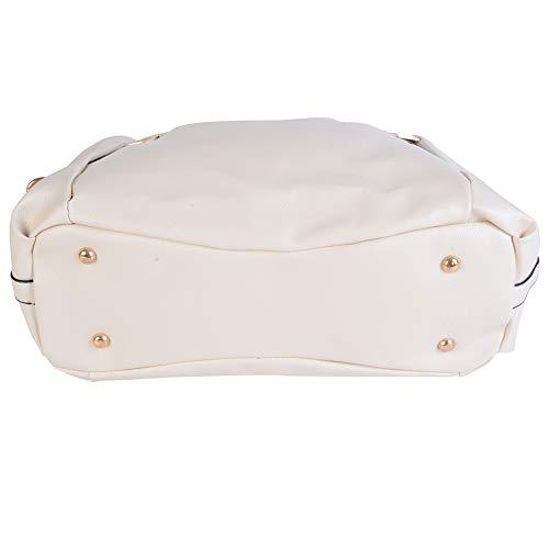 36 Cabas Sac 15 main Loisir laamei Blanc en Voyage Femme Imperméable pour Cuir d'Epaule Travail Bandouliere 26CM à Sac Sac aqRTd4xvnT