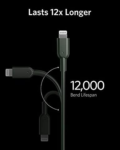 6ft Apple MFi Certified Powerline II for iPhone 11//11 Pro // 11 Pro Max//X//XR//XS Max Anker Midnight Green USB C to Lightning Cable Supports Power Delivery iPhone 11 Pro Charger