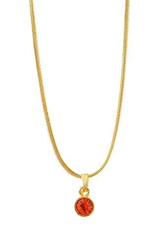 Handicraft Kottage Girl's Gold Plated Pendant (HK-SP-1073) by Handicraft Kottage