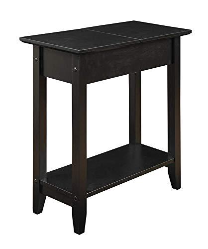 - Convenience Concepts 7105059BL 600569 Flip Top End Table, Black