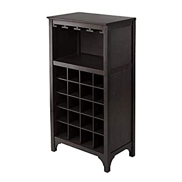 Winsome Ancona Wine Cabinet with Glass Rack Pack of 2