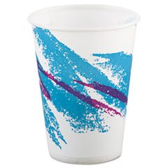 Jazz Waxed Paper Cold Cups Tide Design Volume/Quantity: 9 oz, 2000/Carton