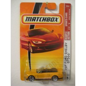 Shelby 2007 Gt500 Ford (Mattel Matchbox 2008 MBX Sports Cars 1:64 Scale Die Cast Metal Car #15 - 2007 Ford Shelby Gt500 Yellow)