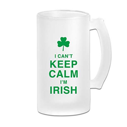 Frosted Beer Mug, I Can't Keep Calm I'm Irish Personalized Stein - Im Irish Stein