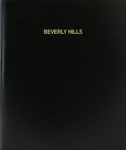 BookFactory® Beverly Hills Log Book / Journal / Logbook - 120 Page, 8.5