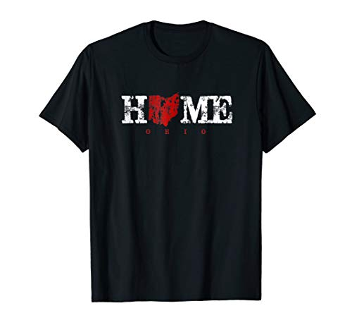 Ohio Home T Shirt in Red Letters ()