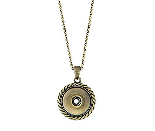Antique Button Necklace - 3