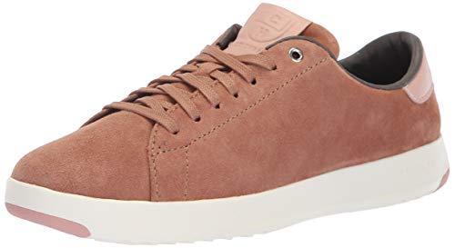 Footwear Suede Mocha (Cole Haan Women's Grandpro Tennis Sneaker, Mocha Mousse Suede/Misty Rose, 8 B US)