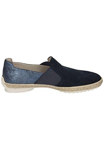 Rieker Rieker Damen Slipper - Mocasines de Piel para mujer azul azul Azul