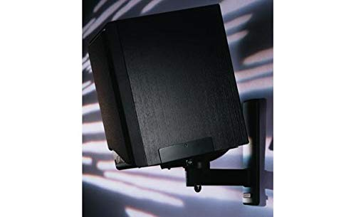 BT77 Black – Pareja de Soportes de Pared para Altavoz c/Negro