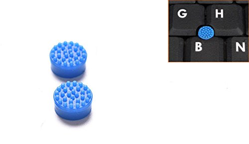 Pack 2 Replacement Trackpoint Cap Mouse Point Stick Nipple for Dell Laptop (Blue Color)