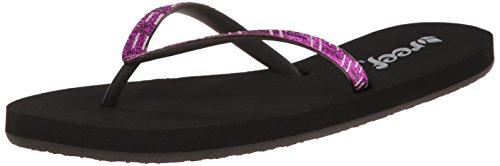 Reef Women's Stargazer Luxe Sandal,Black/Purple/Silver,7 M U