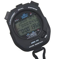 Ultrak 100 Lap Memory Timer, Black (Stopwatch Handheld)