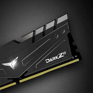 TEAMGROUP T-Force Dark Za (Alpha) (for AMD Ryzen) 16GB Kit (2 x 8GB) 3200MHz (PC4-25600) CL 16 288-Pin DDR4 SDRAM Desktop Gaming Memory Module Ram - Black - TDZAD416G3200HC16CDC01